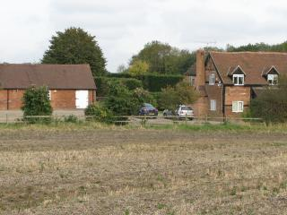 Leasowes Farm and Barn from across the fields