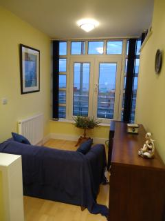 Upstairs relaxation area with seaview