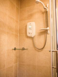 Large walk in power shower...