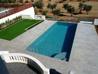 Infinity pool 9m x 5m with views over farmland & olive groves.