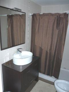 Brown Shower-room with toilet (Opposite Master Bedroom 1)