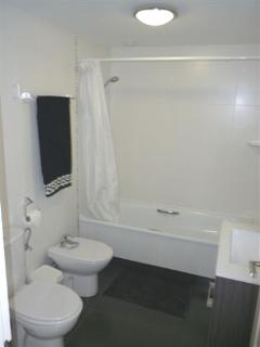 Black & White Bathroom 2 (Opposite Bedrooms 2 & 3)