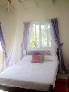 Lovely bedroom with great views and nets