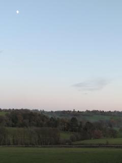 Around Stow, cycling at sunset – Stow's church tower is visible from miles away