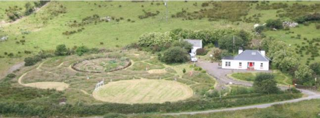 Aerial view of garden from Staigue mountain