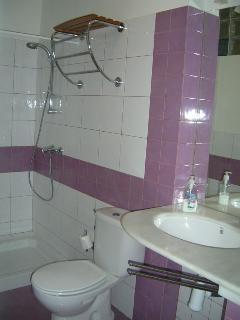 Baño con amplia ducha