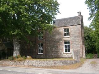 The front of the The Old Convent. The 2 first floor windows are kitchen and living room.