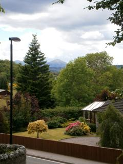 View of Ben Tee from kitchen window.
