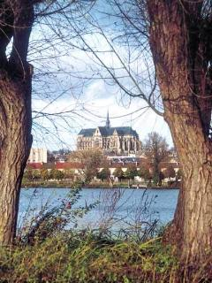 Du marais d'Isles :  vue sur la basilique
