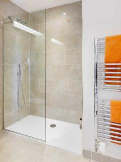 A powerful, raindance shower in the master ensuite
