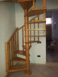 decorative staircase to the loft