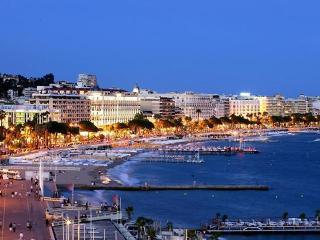 La Croisette & the beaches in Cannes viewed from Le Suquet