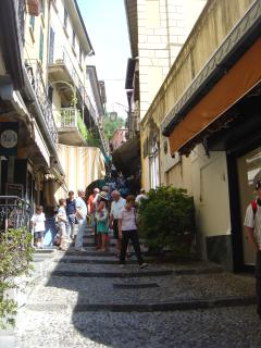 Characteristic cobble stoned stairways of Bellagio