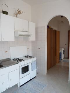 Open plan kitchen and hall