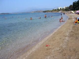 the beach of seaside villa