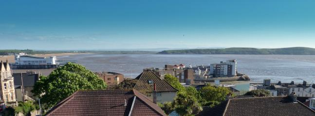 Panoramic view of Brean Down and the Pier
