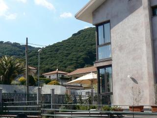 Etna Holiday Home, sullo sfondo i 'Monti Rossi' (Etna)