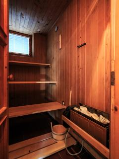 Finish sauna.