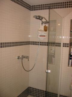 double shower in family bathroom