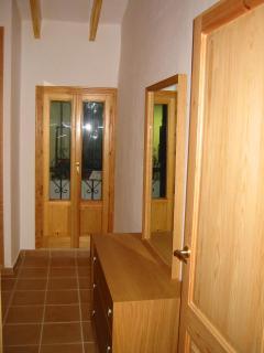 double bedroom and door to balcony
