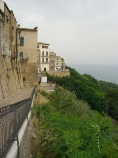 Panoramic town wall overlooking the Adriatic
