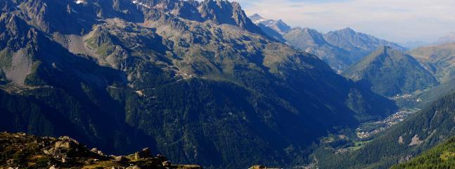 Chamonix valley in summer