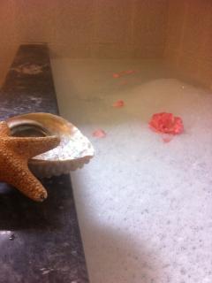 The huge bathtub!