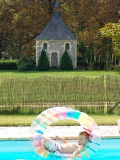 Pool and chapel