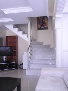 First floor and stair to second floor
