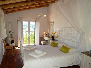 Bedroom 1 with balcony, en suite shower room, romantic as can be!