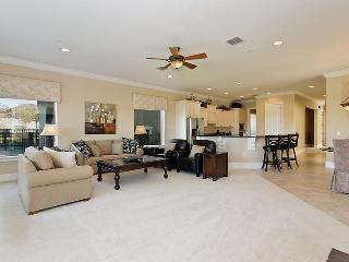 Spacious Living Area with relaxed luxury feel to open plan kitchen area