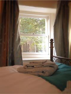 The lovely view across to the 13th century chapel. Can you imagine reading a book here?