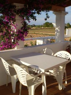 Terraza con mesa exterior