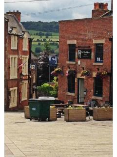 Belper Market Place, a two minute walk from Strutt Cottage