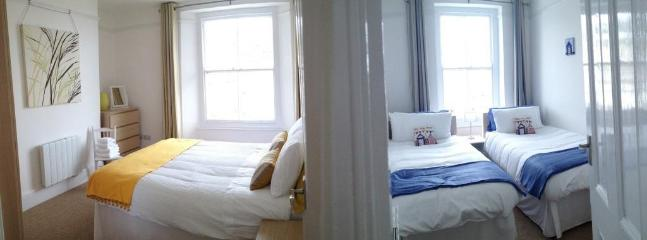 Both Bedrooms have views of the estuary, harbour and out to sea