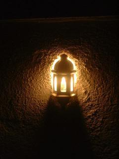 Lámpara en la terraza