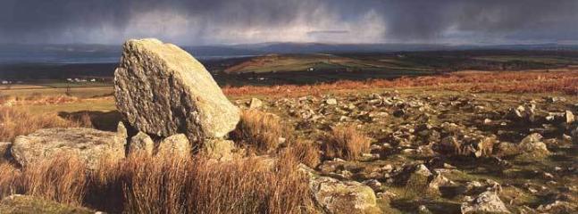 Cefn Bryn & King Arthur Stone Gower, South Wales, UK