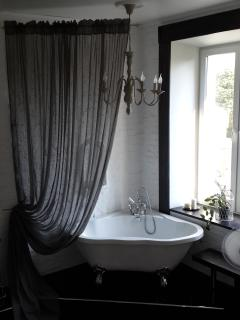 Bathtub Empire style for a romantic evening bath overlooking canal Fontanka