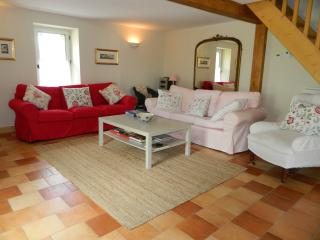 LES GRANGES L'ESTANG. The Old Barn. Large 4 bed Gite, sleeps 11, swimming pool.