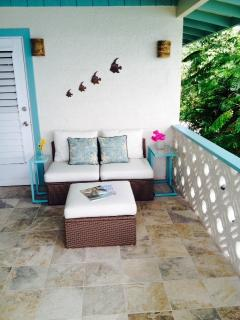 Large ocean view terrace with great breezes.