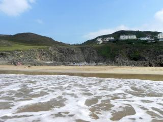 Grunta Beach, a short walk down the hill through National Trust land