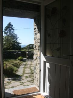View from the front door