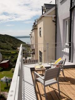 rear private terrace with sea view