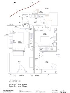 ground floor floorplan (2a is The Buttery)