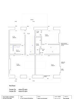 1st floor floorplan (2a is The Buttery)