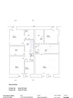 2nd floor floorplan (2a is The Buttery, 2b is Cromlech House)
