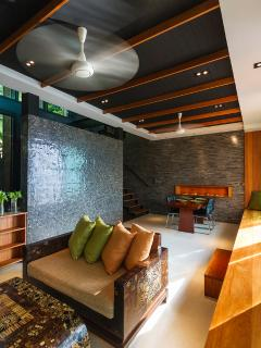 Living area connected with outdoor infinity pool
