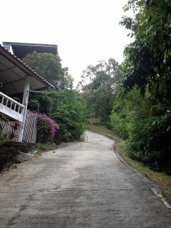 Private concrete road to the villa. 4wd car is recommended.