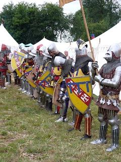 Reenactment at Agincourt (or Azincourt as known in France)...