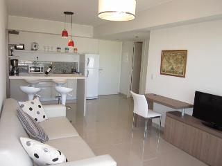 Nice living room, integrated kitchen, full of light